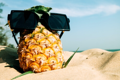 Zonvakantie-strand